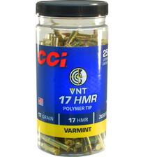 CCI 17 HMR Ammunition CCI958CC 17 Grain VNT Polymer Tip Bottle 250 Rounds