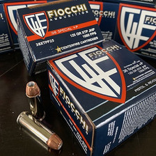 Fiocchi Extrema 38 Special +P FI38XTPP25 125 gr Jacketed Hollow Point 25 Rounds