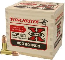 Winchester 22 Long Rifle Ammunition 22LR400WB 36 Grain Lead Hollow Point 400 Rounds