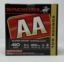 "Winchester 410 Bore Ammunition AASC418VP 2-1/2"" 1/2oz #8 Shot 100 Rounds"