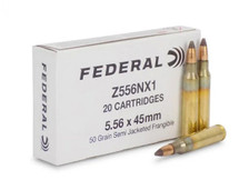Federal 5.56x45mm Ammunition Z556NX1 50 Grain Semi-Jacketed Frangible 20 Rounds