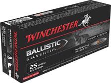 Winchester 25 WSSM Ammunition SBST25WSS 85 Grain Ballistic Silvertip 20 Rounds