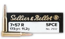 Sellier & Bellot 7mm x 57 Rimmed Ammunition SB757RA 173 Grain Soft Point Cutting Edge 20 Rounds