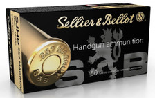 Sellier & Bellot 357 Mag Ammunition SB357C 158 Grain Semi-Jacketed Hollow Point 50 Rounds
