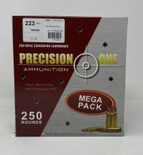 Precision One 223 Remington Ammunition PONE165 55 Grain Full Metal Jacket 250 Rounds