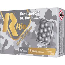 """Rio Royal Buck 12 Gauge Ammunition RB9P 2-3/4"""" 9 Pellets 5 Rounds"""