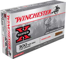 Winchester 300 Win Mag Ammunition X300WMLF 150 Grain Power-Core Hollow Point 20 Rounds