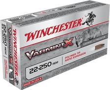 Winchester 22-250 Rem Ammunition X22250PLF 38 Grain Zinc Core Lead Free Rapid Expansion 20 Rounds