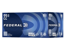 Federal 22 LR Ammunition 729B800 40 Grain Lead Round Nose Range Pack 800 Rounds