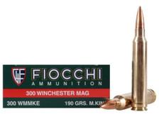 Fiocchi 300 Win Mag Ammunition FI300WMMKE 190 Grain MatchKing Hollow Point 20 Rounds