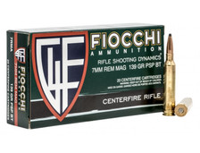 Fiocchi 7mm Rem Mag Ammunition FI7RMA 139 Grain Pointed Soft Point 20 Rounds