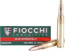 Fiocchi 30-06 Springfield Ammunition FI3006GKB 165 Grain Hollow Point 20 Rounds