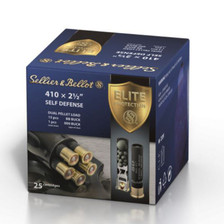 "Sellier & Bellot 410 Bore Ammunition SB410SDA 2-1/2"" Dual Pellet Load 15 BB Buck & 1 000Buck 25 Rounds"
