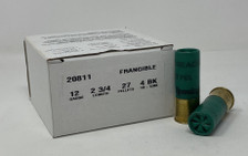 "Remington Tactical Breaching 12 Gauge Ammunition TB12BK 2-3/4"" 27 Pellets 4 Buck 25 Rounds"