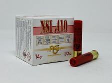 """Nobel Sport Italia 410 Bore Ammunition ANS4128CASE 2-1/2"""" 8 Shot 1/2 oz CASE 250 Rounds"""