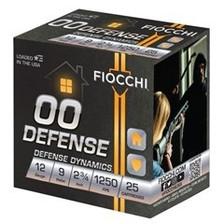 """Fiocchi 12 Gauge Ammunition FI12EX00BK 9 Pellet 2-3/4"""" 1250 FPS 00 Buck 25 Rounds"""