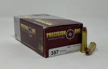 Precision One 357 Magnum Ammunition PONE67 125 Grain Hollow Point XTP 50 Rounds