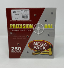 Precision One 38 Special Ammunition PONE152 125 Grain Full Metal Jacket Mega Pack 250 Rounds
