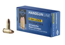 Prvi PPU 9mm Luger Ammunition PPH9F2 124 Grain Full Metal Jacket 50 Rounds