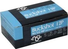 "Nobel Sport Italia 12 Gauge Ammunition ANS1200BK10 2-3/4"" 00 Buck 12 Pellets 10 Rounds"