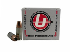 Underwood 9mm Luger +P Ammunition UW132 124 Grain Bonded Jacketed Hollow Point 20 Rounds