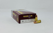 Precision One 9mm Luger Ammunition PONE17 115 Grain Full Metal Jacket 50 Rounds