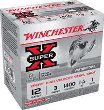 "Winchester 12 Gauge Ammunition WEX123H1 3"" 1-1/4 oz 1 Shot 25 Rounds"