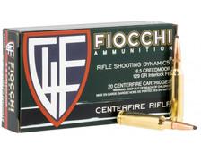 Fiocchi 6.5 Creedmoor Ammunition FI65CMB 129 Grain Interlock FB Soft Point 20 Rounds
