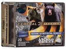 Federal 40 S&W Ammunition P40SHC1 200 Grain Solid Core Syntech Jacket Lead Flat Nose 20 Rounds