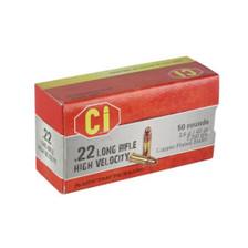 Cascade International High Velocity 22 LR Ammunition CI22LRHV40 40 Grain Copper Plated Round Nose 50 Rounds
