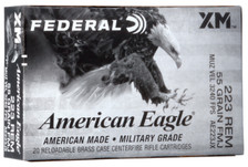 Federal American Eagle 223 Rem Ammunition AE223JX 55 Grain Full Metal Jacket 20 Rounds