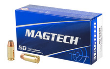 Magtech 40 S&W Ammunition MT40A 180 Grain Jacketed Hollow Point 50 Rounds