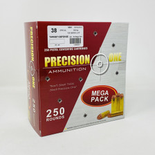 Precision One 38 Special Ammunition PONE43 125 Grain Jacketed Hollow Point Mega Pack 250 Rounds