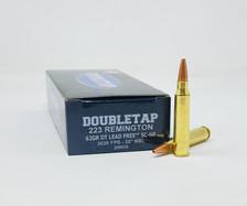 DoubleTap 223 Remington Ammunition DTAP223SCHP 62 Grain DT Lead Free SC Hollow Point 20 Rounds