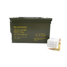 Prvi PPU 7.62x51mm NATO Ammunition PPRM762M 145 Grain Full Metal Jacket BT CAN 500 Rounds