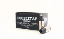 DoubleTap 9mm +P Ammunition DT9DTLFHP20 115 Grain Solid Copper Hollow Point 20 Rounds