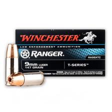 Winchester Ranger 9mm Luger Ammunition RA9SXTC 147 Grain T-Series Hollow Point 50 Rounds