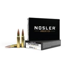 Nosler Match Grade 308 Win Ammunition NOS60132 175 Grain Reduced Drag Factor Hollow Point 20 Rounds