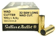 Sellier & Bellot 32 S&W Long Ammunition SB32SWLB 100 Grain Wad Cutter 50 Rounds