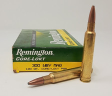 Remington 300 Weatherby Mag Ammunition R300WB1 180 Grain Pointed Soft Point 20 Rounds