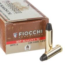 Fiocchi Cowboy Action 357 Magnum FI357CA 158 Grain Lead Flat Point 50 Rounds