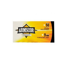 Armscor 9mm Luger Ammunition *repackaged* ARM50043X200 115 Grain Full Metal Jacket 200 Rounds