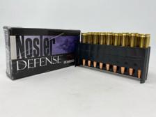 Nosler Defense 223 Rem Ammunition **Damaged Box** NOS39674X 64 Grain Bonded Solid Base 19 Rounds