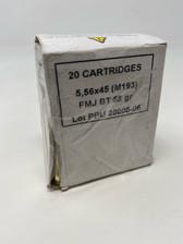 Prvi PPU 5.56x45 M193 Ammunition *Damaged Box* PPN5561X 55 Grain Full Metal Jacket Boat Tail BOX 20 Rounds