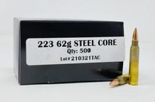 Outdoor Limited 223 Rem *REMAN* Ammunition DEF22362SCR 62 Grain Steel Core Full Metal Jacket 50 Rounds