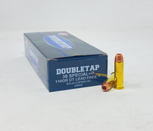 DoubleTap 38 Special +P Ammunition DTAP38110LFSCHP 110 Grain DT Lead Free Solid Copper Hollow Point 20 Rounds