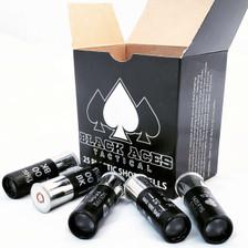 """Black Aces Tactical 12 Gauge Ammunition BAT001425 2-3/4"""" 1-1/5 oz 00 Buck 25 Rounds"""