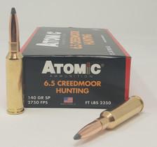 Atomic Ammunition 6.5 Creedmoor Ammunition ATOM65CM140 140 Grain Soft Point 20 Rounds