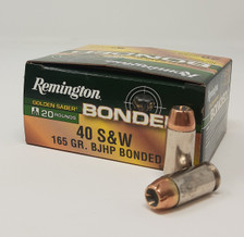 Remington Golden Saber Bonded 40 S&W Ammunition R29363 165 Grain Jacketed Hollow Point 20 Rounds