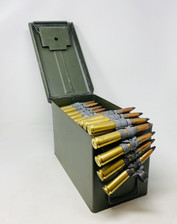 Maine Cartridge Company 50 BMG Ammunition MCC50BMGAPLINKCAN 700 Grain Black Tip Armor Piercing FMJ Linked CAN 100 Rounds